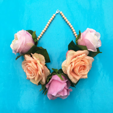 necklace flower silk softpink 2 72