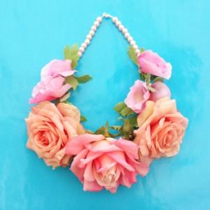 necklace flower silk softsoftpink 72