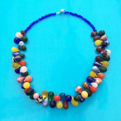 necklace glass drop little color OK 72