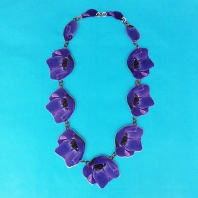 necklace lam flower purpledark OK 72