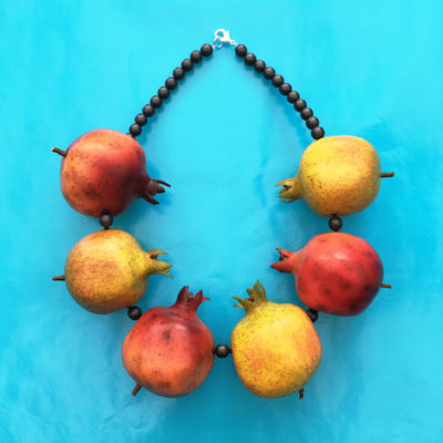 necklace fruit yellow 72