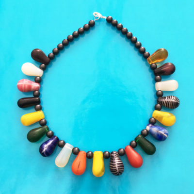 necklace glass drop colors many 72