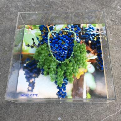 kunstwerk wand druiven 72