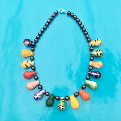 necklace glass drop colors all 1 72