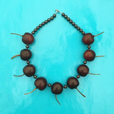 necklace fruit cherry darkred 72