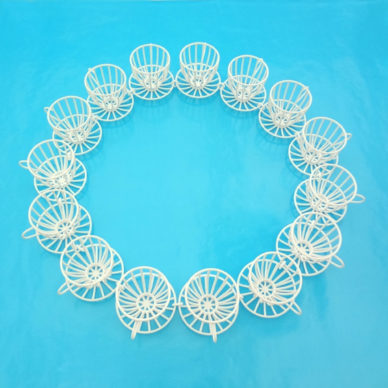 3D necklace cup and saucer white 72