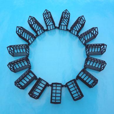 3D necklace house black 72