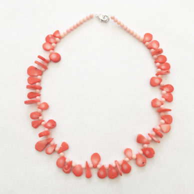 necklace coral orange round 72