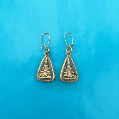 earring boeddha gold 72