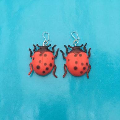 earring ladybug large 72