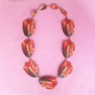 necklace lam tulips redorange 72