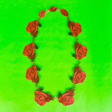 necklace lam red rose 72