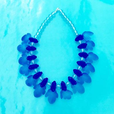 necklace fish blue 72