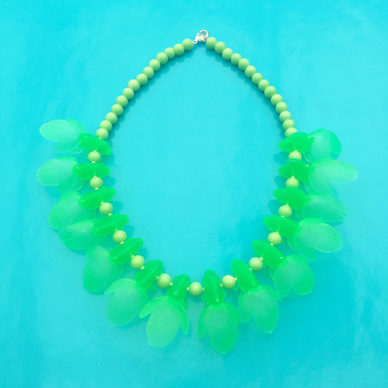 necklace fish green fluor 72