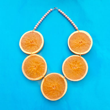 necklace orange slice 72