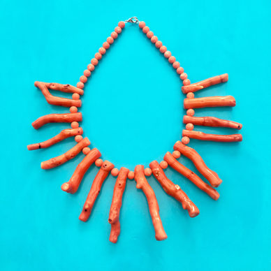 necklace coral orange large 72