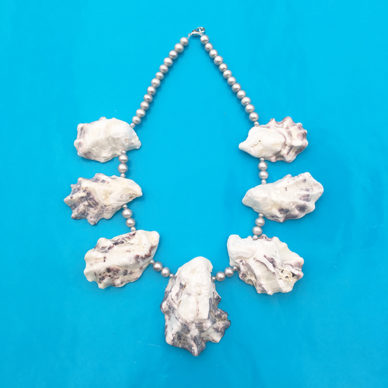 necklace oyster grey 4 72