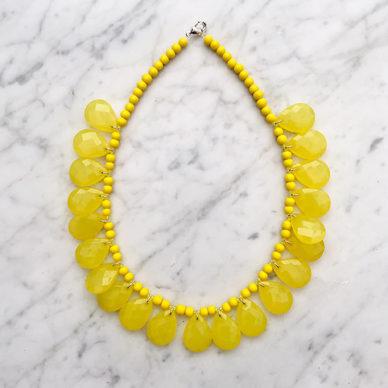 necklace shine yellow fresh 72