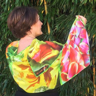 shawl tulips orangeyellow 72