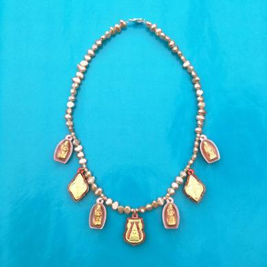 necklace boeddha redpink 72
