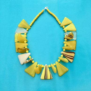 necklace glass forms yellow 72