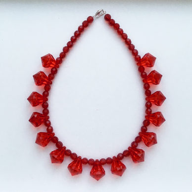 necklace shine red little 72