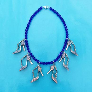 necklace shine shoes blue 72