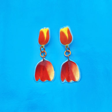 earring lam tulips redyellow 72